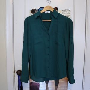 NWOT PORTOFINO TOP IN FOREST GREEN